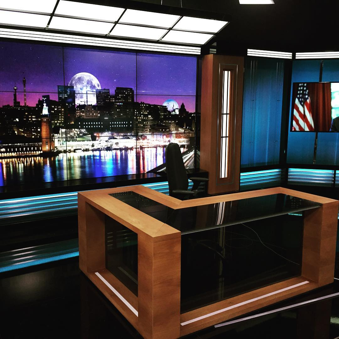 Ny studio till #aftonbladet #expoimage #tvstudio