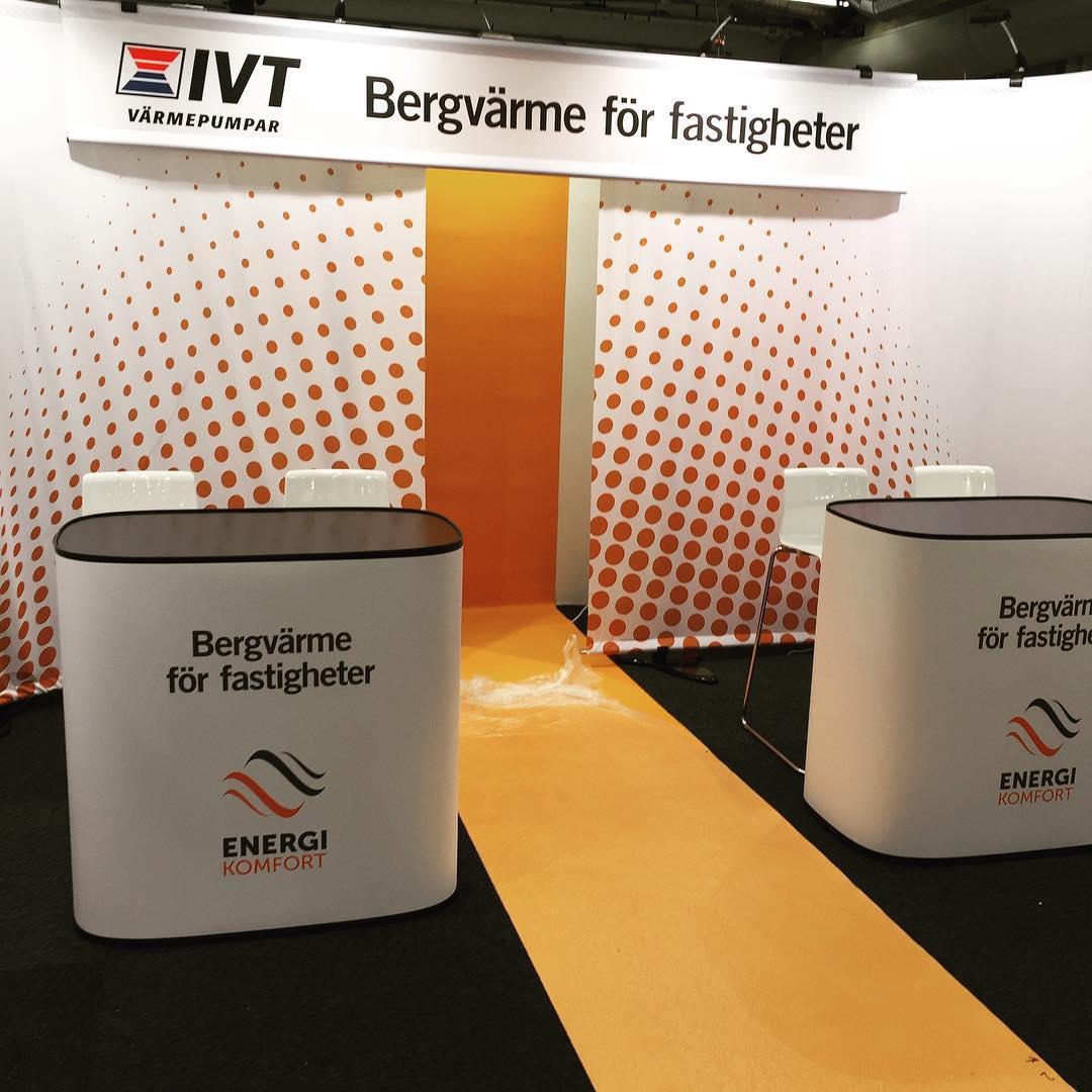 Snygg monter med portabla system från #maxibit @energikomfort #expoimage