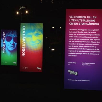 Klart dom ska uppmärksammas på Nybroplan ! Kul jobb för Swedish music hall of fame!  #expoimage #swedishmusichalloffame