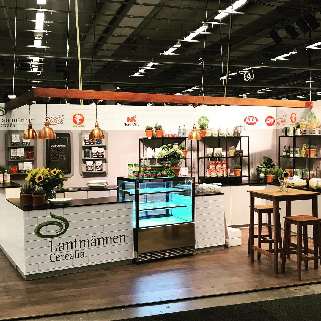 Så va Lantmännens monter på Fastfood & Café klar. @lantmännen #expoimage