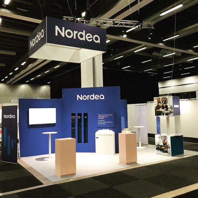 Så va Nordeas monter på Eget Företag klar! #egetföretag #nordea #expoimage #stockholmsmässan